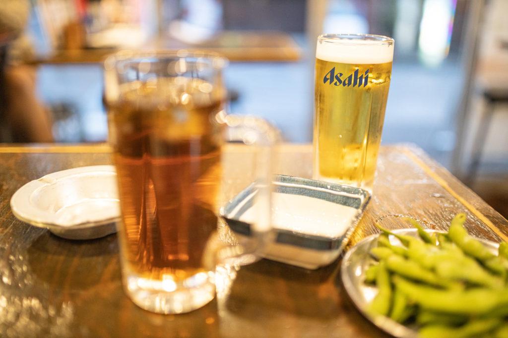 居酒屋でのビール