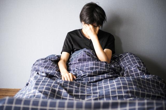 寝起きに体調が悪い男性